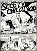 "Original Comic Art:Panel Pages, Jack Kamen Weird Fantasy #16 ""Second Childhood"" Page 1Original Art (EC, 1950)...."