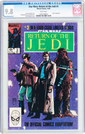 Modern Age (1980-Present):Science Fiction, Star Wars: Return of the Jedi #3 (Marvel, 1983) CGC NM/MT 9.8 White pages....