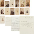 Autographs:Statesmen, [Nineteenth Century Politicians]. Group of Sixteen Cartes de Visiteand Signed Documents....