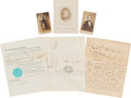 Autographs:Military Figures, Collection of Sixteen Items of Confederate Political Figures....