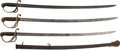 Edged Weapons:Swords, Lot of Three U.S. 1833 Dragoon Sabers.... (Total: 3 Items)