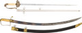 Edged Weapons:Swords, Pair of 19th U.S. Officers' Swords.... (Total: 2 Items)
