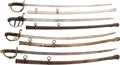 Edged Weapons:Swords, Lot of Four 19th Century Swords.... (Total: 4 )