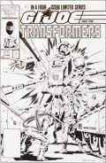 Original Comic Art:Covers, Herb Trimpe and Vince Colletta G. I. Joe and theTransformers #1 Cover Original Art (Marvel, 1986)....