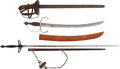 Edged Weapons:Swords, Lot of Three Miscellaneous Swords.... (Total: 3 Items)