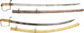 Edged Weapons:Swords, Lot of Two Early 19th Century American Officers' Swords.... (Total: 2 Items)