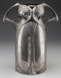 Decorative Arts, French, AUSTRIAN ART NOUVEAU PEWTER VASE, circa 1905. 14-1/2 inches high(36.8 cm). PROPERTY FROM THE RICHARD AND MERLE HABER COLL...