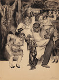 Works on Paper, EASTERN EUROPEAN ARTIST (20th Century). The Crime of Poverty. Watercolor and ink on board. 25 x 19-1/2 inches (63.5 x 49...