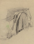 Fine Art - Work on Paper:Drawing, ALICE D. KELLOGG (American, 1862-1900). Woman with Yoke and TwoBuckets Leaning Over, Reclining Woman with Baby, and S...(Total: 3 Items)