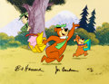 Animation Art:Limited Edition Cel, Picnic Heist Yogi Bear and Boo-Boo Limited Edition Cel AP#10/20 (Hanna-Barbera, 1989)....