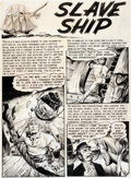 "Original Comic Art:Panel Pages, Graham Ingels Piracy #3 ""Slave Ship"" Title Page 1 OriginalArt (EC, 1955)...."