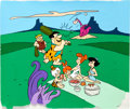Animation Art:Production Cel, The Flintstones Publicity Cel (Hanna-Barbera, 1970s)....