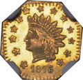 California Fractional Gold , 1876/5 $1 Indian Octagonal 1 Dollar, BG-1129, R.4, MS66 NGC....