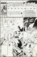 Original Comic Art:Covers, Carl Potts and Kevin Nowlan Strange Tales #11 Cover Original Art (Marvel, 1988)....