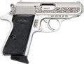 Handguns:Semiautomatic Pistol, Engraved Walther Talo Royal Eagle Model PPK/S-1 Semi-AutomaticPistol....