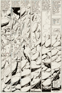 George Perez and Mike DeCarlo Tales of the Teen Titans Annual #3 Page 37 Terra Original Art (DC, 1984)