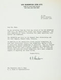 Autographs:Military Figures, Admiral Hyman G. Rickover Typed Letter Signed....