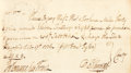 Miscellaneous:Ephemera, [Revolutionary War]. Oliver Ellsworth Pay Order Signed...