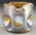 Art Glass:Loetz, LOETZ IRIDESCENT GLASS DIMPLED VASE, circa 1900. Marks: Loetz,Austria. 4-1/2 inches high (11.4 cm). PROPERTY FROM THE...