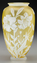 Glass, THOMAS WEBB OVERLAY GLASS FLORAL VASE, circa 1880. 9-1/8 inches high (23.2 cm). PROPERTY FROM THE COLLECTION OF LOLA McMUR...