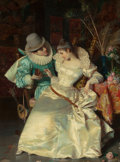 Fine Art - Painting, European:Antique  (Pre 1900), PIO RICCI (Italian, 1850-1919). The Proposal. Oil on canvas.20 x 15 inches (50.8 x 38.1 cm). Signed lower left: Pio R...