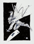 Original Comic Art:Splash Pages, Andy Kuhn Gambit Pin-Up Original Art (undated)....