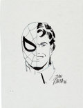 Original Comic Art:Sketches, John Romita Sr. Peter Parker/Spider-Man Convention Sketch Original Art (1990)....