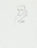 Original Comic Art:Sketches, Mike Mignola Hellboy Sketch Original Art (undated)....