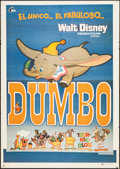 "Movie Posters:Animation, Dumbo & Other Lot (Filmayer, R-1977). Spanish One Sheets (2) (27.5"" X 39.5""). Animation.. ... (Total: 2 Items)"