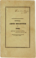 Militaria:Ephemera, [Robert E. Lee]. Official Army Register for 1832. ...