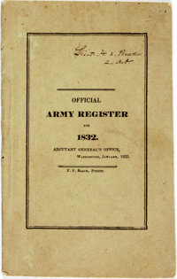 [Robert E. Lee]. Official Army Register for 1832