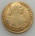 Colombia, Colombia: Charles IV gold 8 Escudos 1807 P-JF F/VF -Cleaned, ...