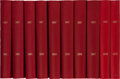 "Miscellaneous Collectibles:General, 1990-99 ""Indy"" Hardcover Red Books Collection of 10...."