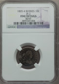 Early Dimes, 1805 10C 4 Berries, JR-2, R.2, -- Bent -- NGC Details. Fine. NGCCensus: (12/205). PCGS Population (0/9). Mintage: 120,780....