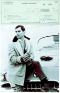 Autographs:Celebrities, [Route 66] George Maharis Signed Document. ...