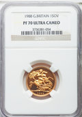 Great Britain: Elizabeth II gold Proof Sovereign 1988 PR70 Ultra Cameo NGC
