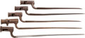 Military & Patriotic:Revolutionary War, Five Early British Socket Bayonets.... (Total: 5 )