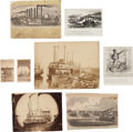Photography:CDVs, [Charles Ellet Jr.]. Group of Eight Photographs, Engravings, and Magazine Clippings....