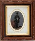 Military & Patriotic:Civil War, Civil War Union Full Plate Tintype in Period Frame....