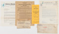 Baseball Collectibles:Others, 1935-41 Frank Metha Minor League Releases & Contracts, Lot of20....