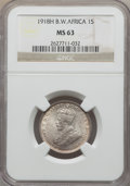 British West Africa, British West Africa: British Colony. George V Shilling 1918-H MS63NGC,...