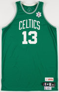 Basketball Collectibles:Uniforms, 2009-10 Shelden Williams Game Worn Boston Celtics Snowflake Jersey....