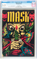 Golden Age (1938-1955):Horror, Mask Comics #1 (Rural Home, 1945) CGC FN- 5.5 White pages....