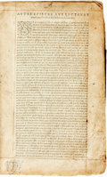 Books:Religion & Theology, [Religion & Theology]. [La Sainte Bible.] [N.p., n.d.] Text in French. Title page lacking. ...