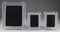 Art Glass:Other , THREE WATERFORD CUT-GLASS PICTURE FRAMES, Waterford, Ireland, late20th century. Marks: WATERFORD, CRYSTAL. 13-1/2 x 11-...(Total: 3 Items)