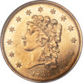 Classic Quarter Eagles, 1834 $2 1/2 Small Head, Breen-6138, Variety 1, R.1, MS62 Prooflike NGC....