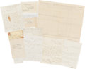 Autographs:Military Figures, Group of Ten Related Union Documents.... (Total: 10 )