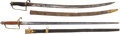 Edged Weapons:Swords, Lot of Two Early 19th Century Officers' Swords.... (Total: 2 Items)