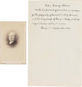 Autographs:U.S. Presidents, John Quincy Adams Signature and Sentiment.... (Total: 2 )