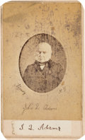 Autographs:U.S. Presidents, John Quincy Adams Clipped Signature Mounted on a Carte deVisite of Adams Published By E & H.T. Anthony from a Mat...